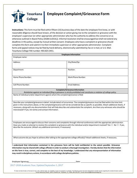 employee grievance form 14 employee complaint forms free psd word pdf format
