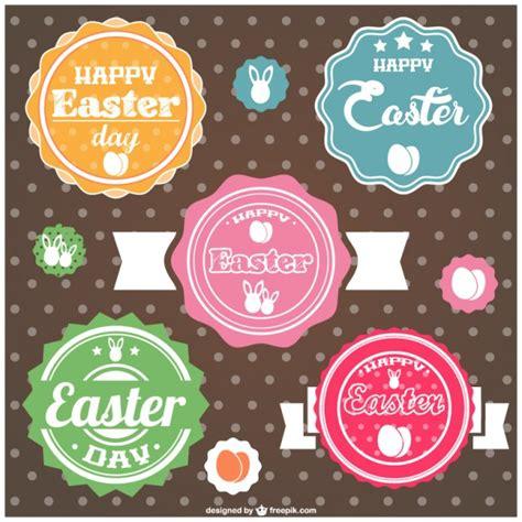 Etiketten Marmelade Ostern by Ostern Etiketten Design Der Kostenlosen Vektor