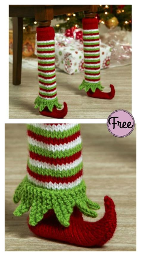 Knit Chair Leg Cover shoe table leg cover free knitting pattern