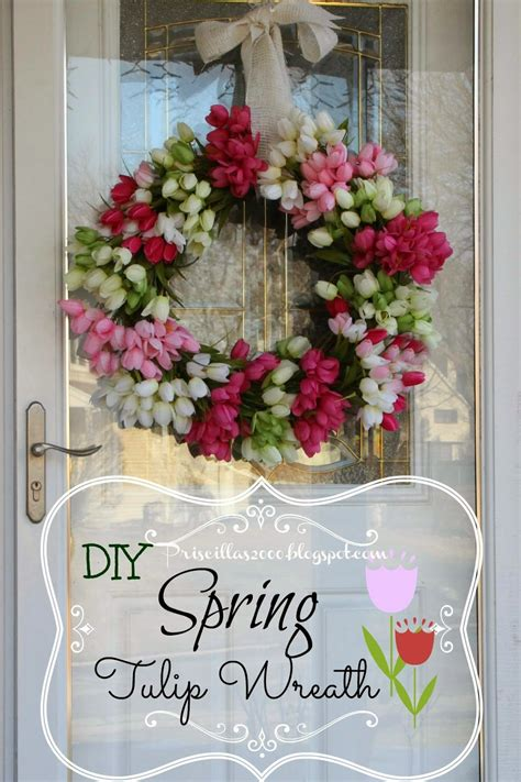 spring wreaths diy priscillas diy spring tulip wreath