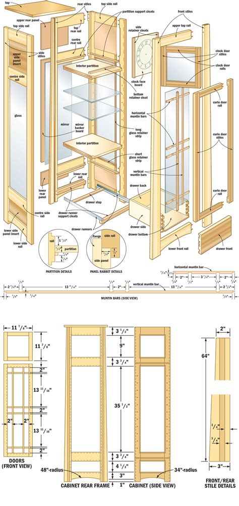 free woodwork project plans free plans directions for a mission curio clock