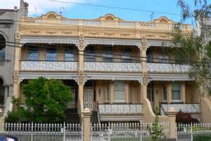 terrasse englisch file terrace houses in park south yarra with