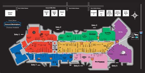 mall map of concord mills 174 a simon mall concord nc