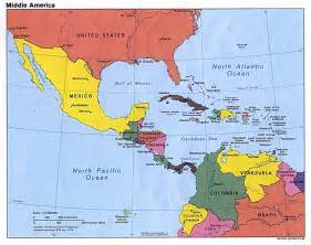 a map of central and south america central america