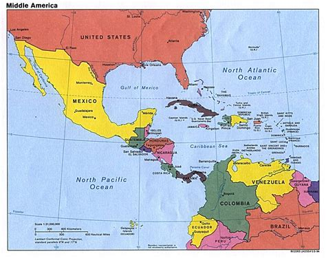 south america map and central america central america