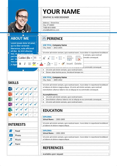 stylish resume templates word bayview stylish resume template
