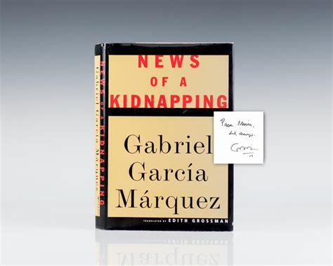 News Of A Kidnapping By Gabriel Garcia Marquez news of a kidnapping raptis books