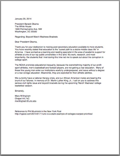 College President Letter To Students Formal Letter To President Barack Obama Paper Class Inc