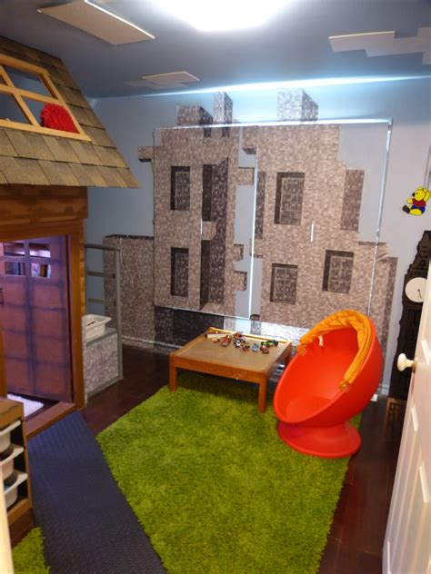 minecraft kids bedroom bedroom created to look like the minecraft village created