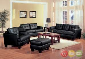 black livingroom furniture samuel black bonded leather living room sofa and loveseat
