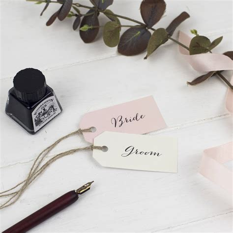 Wedding Name Tags by Modern Calligraphy Personalised Wedding Name Tags By