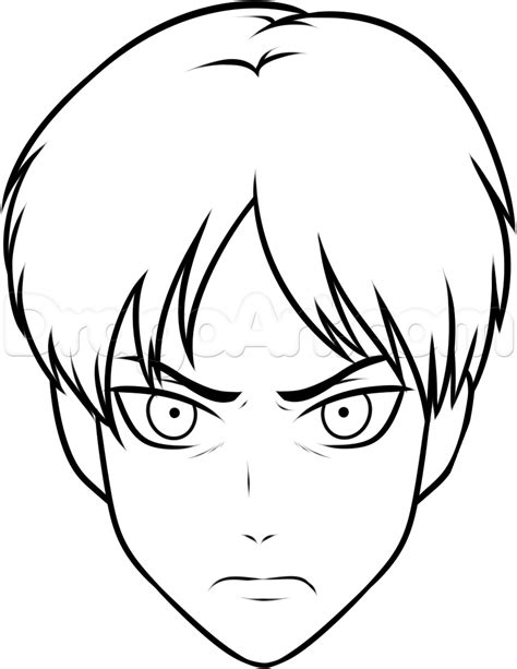 easy drwing how to draw eren easy step by step anime characters