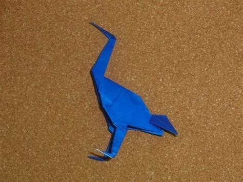 Origami Standing Crane - daily origami 121 school origami standing crane