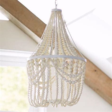 wood beaded corinne chandelier  brown
