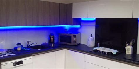 blue cabinet lighting how to position your led lights