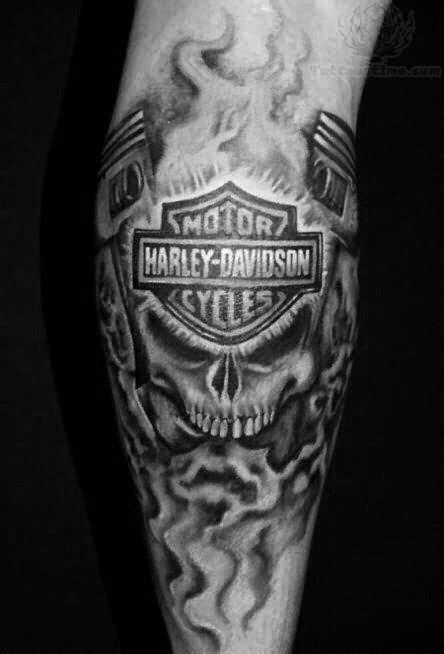 black and grey harley tattoos harley tattoos pinterest