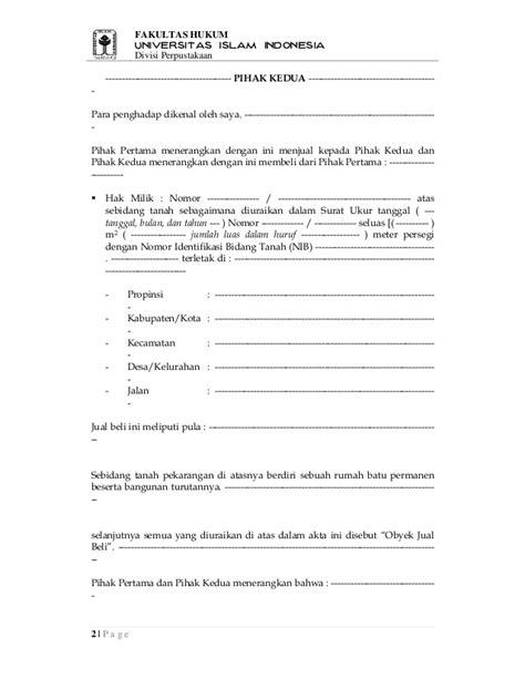 contoh surat perjanjian pengikat jual beli tanah