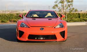 Orange Lexus Lfa Lexus Lfa Shines In Sunset Orange Autoevolution