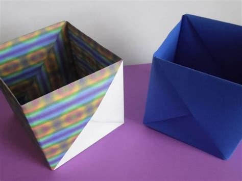 Origami Cube Box - how to make an origami cube box with the