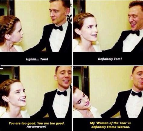 emma watson and tom hiddleston emma watson and tom hiddleston the avengers and geekdom