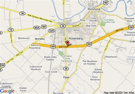 map of rosenberg texas map of inn express hotel suites rosenberg rosenberg