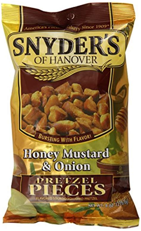 Snyders Snyders Honey Mustard 125gr snyder s of hanover pretzel pieces honey mustard and 8 ounce pack of 6