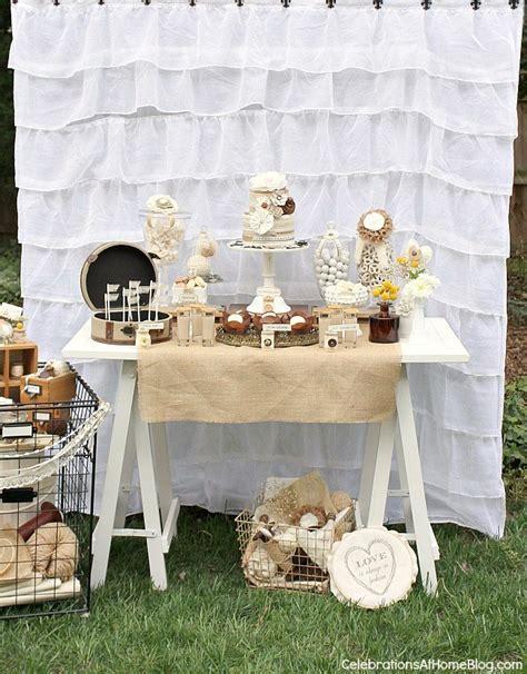 shabby chic bridal shower dessert table celebrations at home