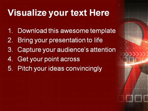 powerpoint templates free hiv hiv ribbon science powerpoint backgrounds and templates 1210
