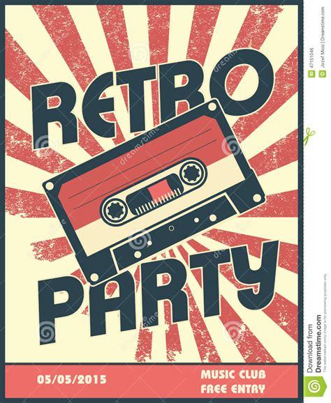 Retro Le by R 233 Tro Conception D Affiche De Musique De Partie Avec Le