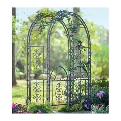 Iron Garden Arbor Gate Garden Arbor W Gate Bronze Iron Trellis Arch Archway Patio