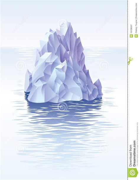 illustration north pole ice mountain  sea royalty