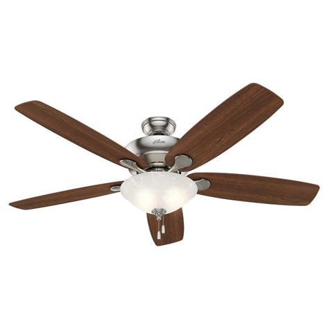 hunter ceiling fan downrod shop hunter regalia 60 in brushed nickel downrod or close