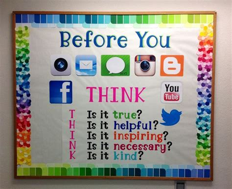 Poster Inspiratif Think Outside The Box Hiasan Dekorasi Dinding paint chip boarder on my computer lab bulletin board for the 2013 2014 school year c