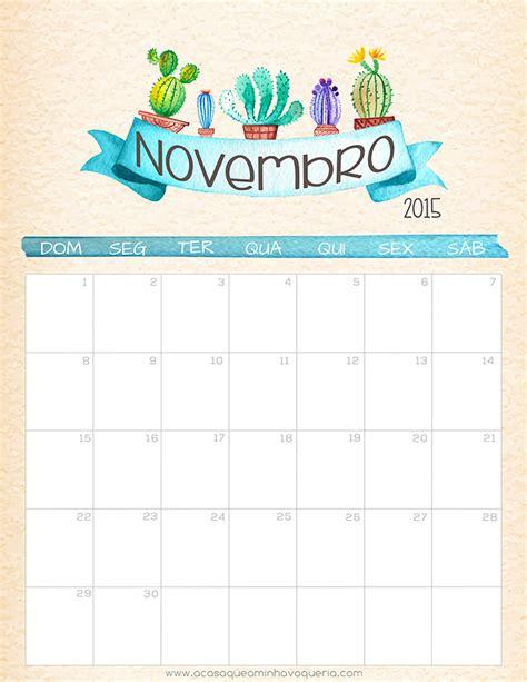 Calendario Novembro Calend 225 Novembro 2015