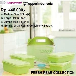 Tupperware Fresh Pear 3 fresh pear collection gift collection tupperware