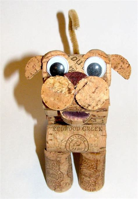 how to make a dog cork ornament items similar to cat figurine made from recycled corks on etsy
