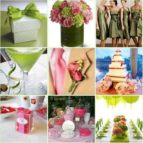 wedding color combinations pink color combination wedding ideas
