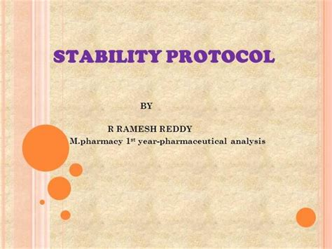 stability protocol template stability protocol authorstream