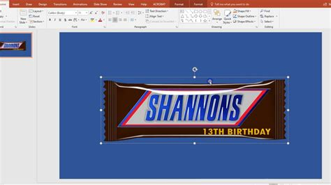 Snickers Bar Wrapper Template
