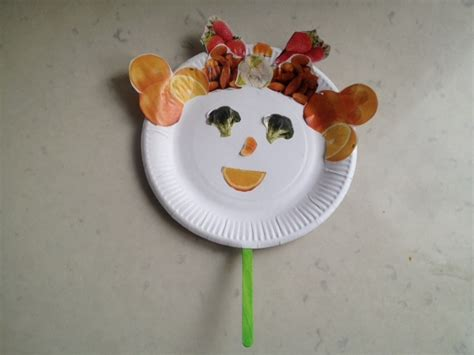 How To Make A Paper Plate Puppet - fruit puppets my kid craft