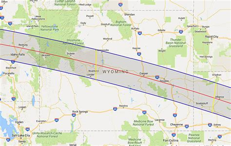 map of oregon totality 2017 total solar eclipse in wyoming