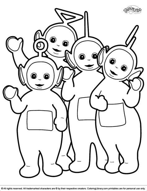 Teletubbies Coloring Pages by Teletubbies Coloring Pages To Print Coloring Home