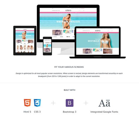 solera responsive lingerie shopify template sections