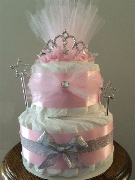 Cake For Baby Shower Centerpiece by Pink Princess Crown Cake For Baby Shower