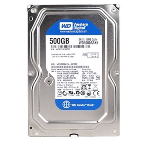 Hardisk Wd Blue 500gb Western Digital Caviar Blue Wd5000aakx 500gb Sata 3 In