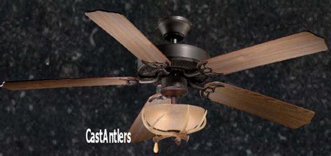 Standard Size Fans 52 Quot Rustic Ceiling Fan W Antler Bowl Antler Ceiling Fan Light Kit