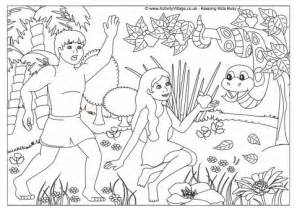 the garden of eden story coloring coloring pages
