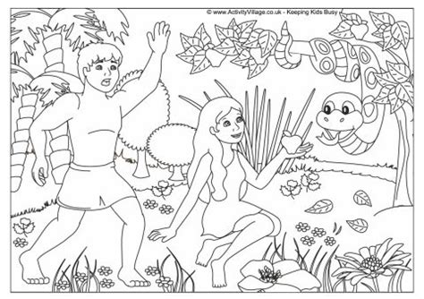 garden of eden printable activity sheets garden of eden colouring page