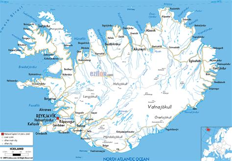 Printable Road Map Iceland | printable iceland road map iceland transport map iceland