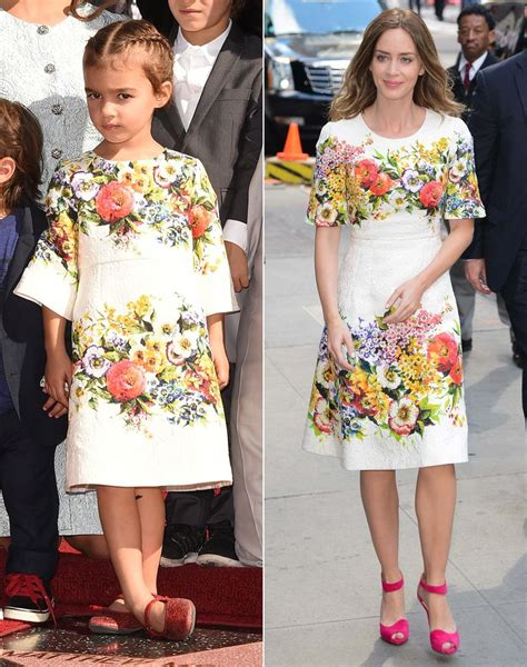 Who Wore Dolce Gabbana Better by Vida Mcconaughey And Emily Blunt Who Wore Floral Dolce